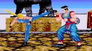 Virtua Fighter 2 (1997) Sarah Playthrough (60 FPS) SEGA Mega Drive Genesis iPlaySEGA