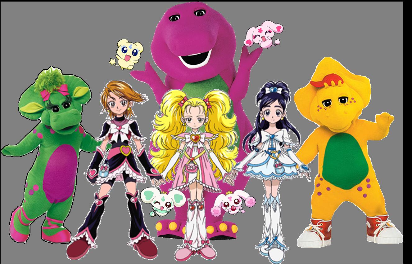 Barney meets Pretty Cure Max Heart