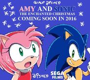 Amy and Sonic the Enchanted Christmas Teaser poster 2