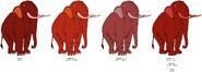 Bacon Elephant's color evolution