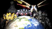 Godzilla and Transformers Protectors of Earth