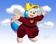 Bridgie flying in the sky by avionscreator-dcecfyi