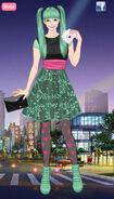 Hatsune Miku on an outing night