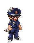 Rigby as police officer