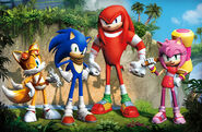 Sonic , Miles Tails Prower , Knuckles and Amy Rose