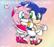 Baby Sonic and Baby Amy Rose