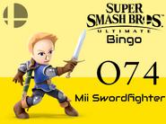 Mii Swordfighter SSBU Bingo