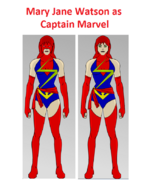 Mary Jane Watson as Captain Marvel
