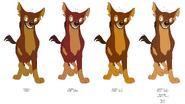 Donny Hyena's color evolution