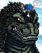 Hedgehog meets King of the Monsters by WaniRamirez on DeviantArt
