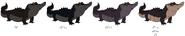 Albert Alligator's color evolution