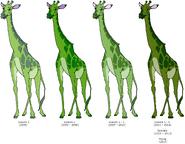 Lettuce Giraffe's Color Evolution