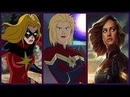 Captain Marvel Evolution in Cartoons & Movies (Carol Danvers-Ms Marvel) (2018)
