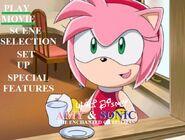 Amy and Sonic The Enchanted Christmas DVD Main Menu