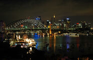 Sydney Harbour night skyline
