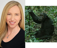 Alice Dinnean and Chimpanzee