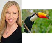 Alice Dinnean and Toco Toucan