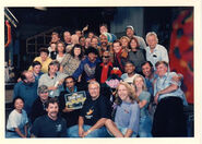 Ray and cast of sesame street