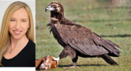 Alice Dinnean and Cinereous vulture
