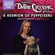 AliceDinnean will be joining us for A Reunion of Puppeteers!