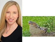 Alice Dinnean and Green Iguana