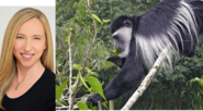Alice Dinnean and Black-and-White Colobus Monkey