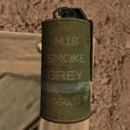 Smoke Grenade third person
