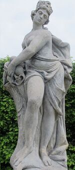 s33 / Gaia / Terra (Roman) - Personification of the Earth and one of the Greek primordial deities Gaia was the great mother of all: the primal Greek Mother Goddess;  creator and giver of birth to the Earth and all the Universe;  the heavenly gods, the Titans, and the Giants were born to her