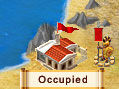 An occupied town