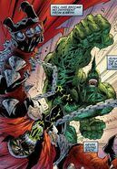 Savage Dragon on Spawn 001