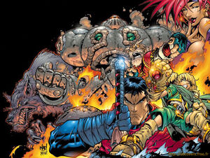 Cover to Battle Chasers #1 by Joe Madureira
