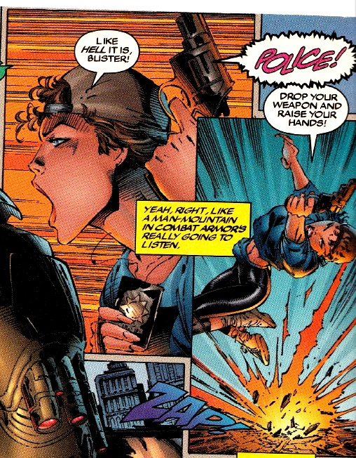 Alysande Morales in police action Cyberforce Vol. 2. No. 9.jpg