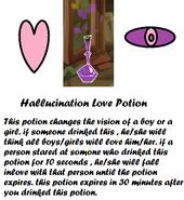 Hallucination Love Potion