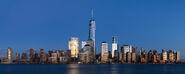 Lower Manhattan from Jersey City November 2014 panorama 3