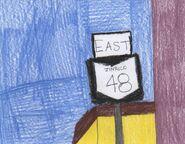 Eastbound Zinrico 48 shield