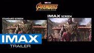 Avengers Infinity War IMAX® Screen vs
