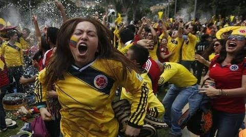 2014 World Cup Anthem of Colombia by 50,000 fans