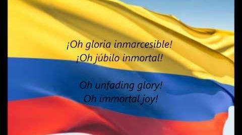 """Colombian National Anthem - """"¡Oh Gloria Inmarcesible!"""" (ES EN)"""