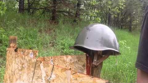 Hungarian SSH-40 Style Helmet, Ballistic Test