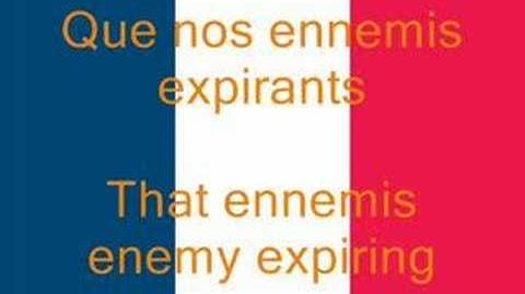La Marseillaise, French National Anthem (Fr En)