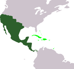 Commonwealth of Mexico (dark green) Mexican Territories (light green)