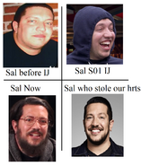 Sal then and now meme