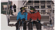 Murr and Sal on a ski lift