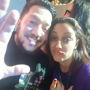 Sal and a fan