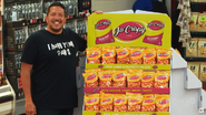 Sal and a snack display