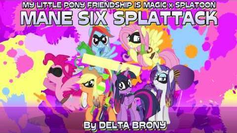 -MLP FiM x Splatoon- Mane Six Splattack