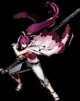 Yuzuriha Sougetsu (BlazBlue Cross Tag Battle, Character Select Artwork).png