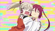 Uka hugging Miya