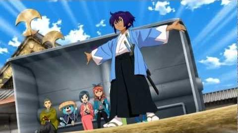 Inazuma_Eleven_GO_Chrono_Stone_-_Mixi_Max_entre_Tsurugi_y_Okita_Souji_-_Kiku_Ichimonji_菊_一文字