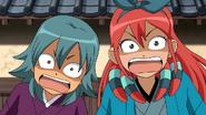 Jade et Aitor effrayés